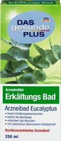 Das Gesunde Plus Erkaeltungsbad German Medical Eucalyptus Bad Bath 250ml - 8.45fOz glass bottle