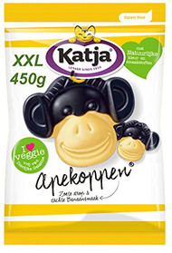 Katja Katjes | Apekoppen Monkeys | Licorice&Fruit Candy | XXL Bag  450gr/15.8oz
