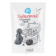 sugar free Munten Drop |Dutch Stevia Licorice| Muntendrop Licorice Coins stevia licorice 100g - 3.5 oz Bag