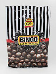 Iceland Bingo Lakkris Kulur Licorice Toffee with chocolate Bag of 150g - 5.2Oz
