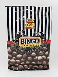 Iceland Bingo Lakkris Kulur Licorice Toffee with chocolate Bag of 150g - 5.2Oz