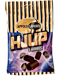 Iceland Hjup Gold Lakkris Licorice Rod covered in chocolate 150g - 5.2Oz