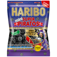 Haribo Denmark Mini Super Piratos Bag of 340g - 12Oz