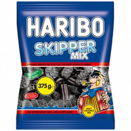 Haribo Denmark Skipper Mix Soft Strong Licorice Bag of 375g - 13.2Oz