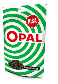 OPAL green Icelandic Salmiak Licorice - Salmiaklakkris Bag of 100g - 5.5oz