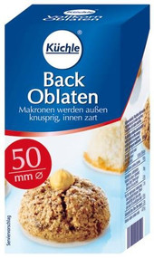 Kuechle Kuchle back oblaten (round wafer 50 mm/100 ct)  37g - 1.3oz