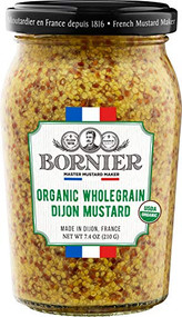 BORNIER Organic Wholegrain Mustard, 210g - 7.4 Ounce