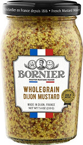 BORNIER Whole Grain Mustard, 210g - 7.4 Ounce