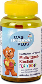 Multivitamin Gummi Bears - Fruit Gums, 60 Pieces 120 g - 4.2oz