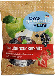 Traubenzucker Grape Sugar Dextrose Sweet Bonbon, German Domestic Fruit Mix, Bag of 100g - 3.3 oz