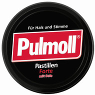 Pulmoll Black Forte, German throat and cough drops, 75g - 2.6 Oz 2 go tin