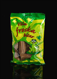 Icelandic Froskabitar - Frog-Bits TuttifFrutti Flavored Marshmallow in Chocolate - Bag of 150g - 5.2oz