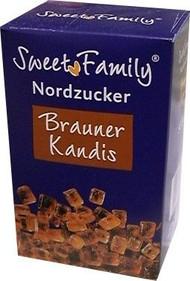 Nordzucker Sweet Family Brauner Brown Kandis Rock Sugar Box of 500 Gr / 17.6 Oz