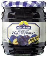 Muehlhaeuser Thueringer Pflaumenmus, German Plum Butter / Jam 450 g - 15.8oz Glas Jar