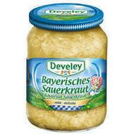 Develey Bayerisches Sauerkraut- Mild & Delicate 680g - 23.99oz Glas Jar