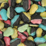 Evers Danish Crazy Candy Frogs Bag licorice & fruit 500g - 17.6Oz MGC Bulk