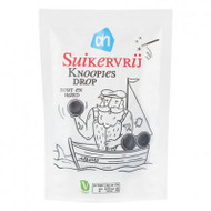 sugar free Knoopjes Drop |Dutch Licorice| Licorice Buttons stevia licorice 100g - 3.5 oz Bag