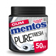 Mentos Gum Bottle pure fresh black mint, 100g - 3.5oz / ap 50 pieces