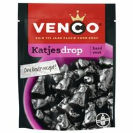 Venco Katjes Drop |Dutch Licorice| firm licorice cat shaped  - 250g - 8.8oz