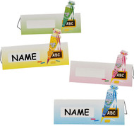 KidsCone Table Name Cards Set of 4 (4 different Colors)