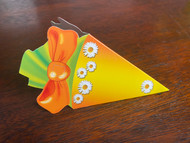 "KidsCone Combo GiftCard light orange / yellow ""Flower"""