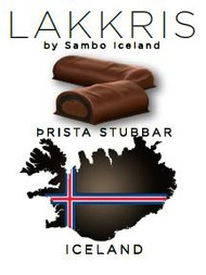 Sambo Þristastubbar Iceland Lakkris Mini Chocolate Bars  Bag of 130g - 4.5Oz / Prista