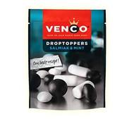 Venco DropToppers Salmiak & Mint | Dutch Licorice Mix | 1 x Bag | 270g - 9.5oz