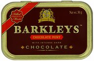 Barkleys Chocolate Mints (crispy mint shell filled with dark chocolate),  1 x Tin of 50g /1.7oz