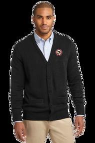 ILT Men's V-Neck Cardigan Sweater with Pockets