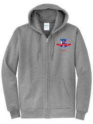 WLI -PE Full Zip Hoodie w/Logo Grey