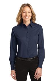 OLV - Oxford Shirt Long Sleeve Ladies -  Navy