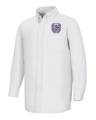 Stem - Oxford Girls Long Sleeve - White