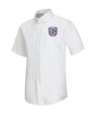 Stem - Oxford Girls Short Sleeve - White