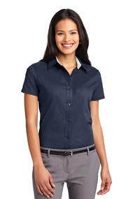 OLV - Oxford Short Sleeve Sleeve Ladies - Navy