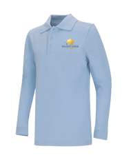 WCA - Polo Long Sleeve - Lt Blue