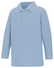 WCA - Polo ECE Long Sleeve - Lt Blue