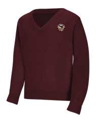 ILT - V Neck Sweater - Burgundy