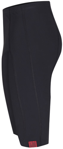 womens long swim shorts in black side view - ultra flattering swimwear