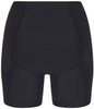 Womens black swim shorts with tummy control back view - ultra flattering swimwear