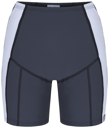 Butterfly swim shorts with tummy control front view - ultra flattering swimwear
