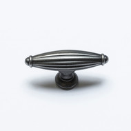 Gristol Pewter Reeded Cabinet Knob K6618PEWTER