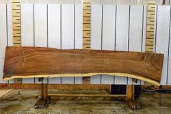Guanacaste (Parota) Live Edge Wood Slab - J16630 - 138x25x3 - side 1