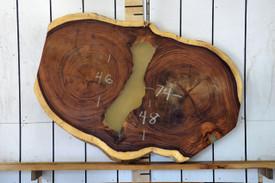 Guanacaste (Parota) Live Edge Wood Slab - H15041 - 74x47x3