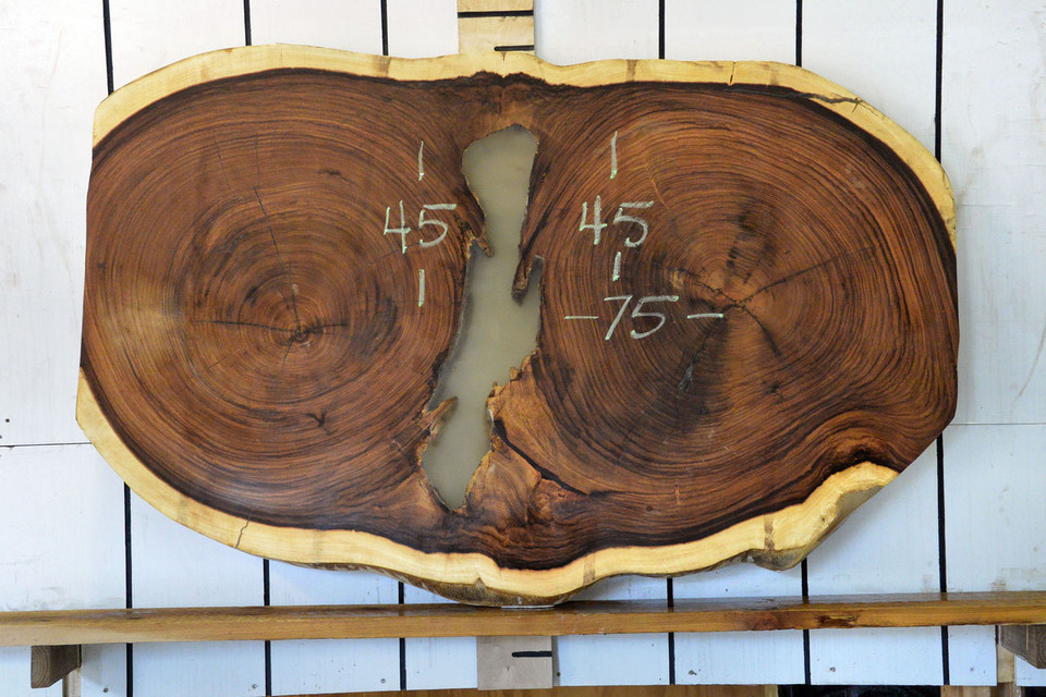 Guanacaste (Parota) Live Edge Wood Slab - H15043 - 75x45x3