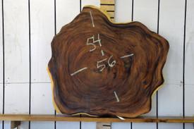 Guanacaste (Parota) Live Edge Wood Slab - H15054 - 56x54x3