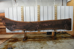 Walnut Live Edge Wood Slab - WAL101 - 196x24x2.5 - side 1