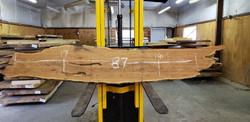 Mesquite Live Edge Wood Slab - TM301 - 87x17x2.5 - Side 1