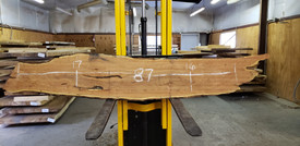 Mesquite Live Edge Wood Slab - TM301 - 87x17x2.5 - Side 1