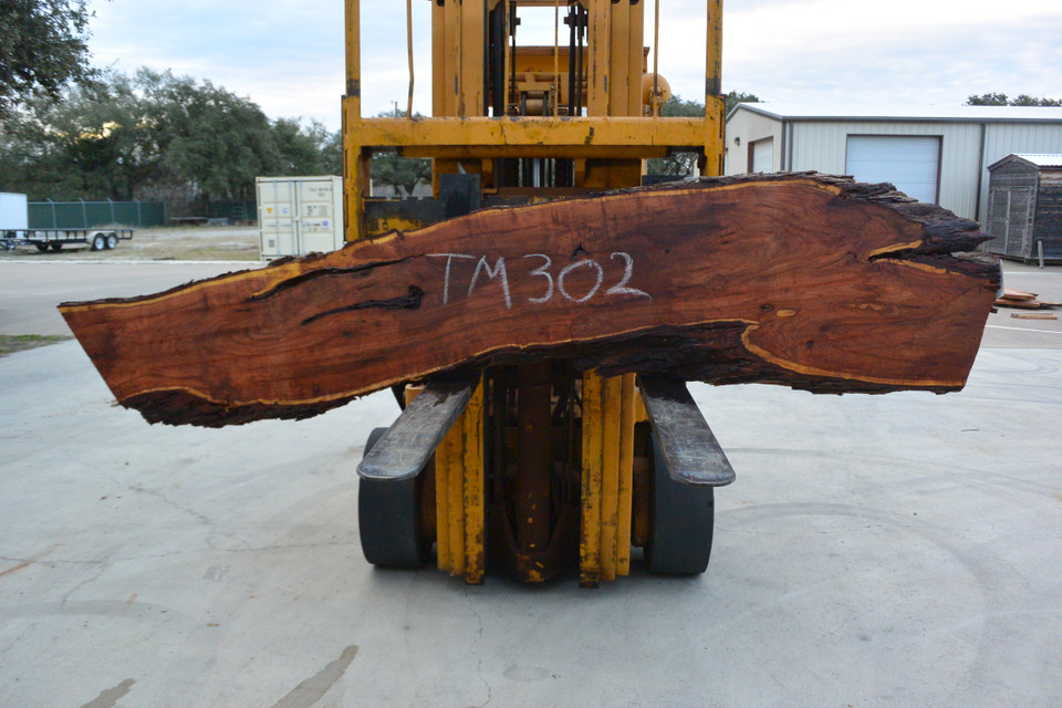 Mesquite  Live Edge Slab - TM302 - 96x22x2.75 - Side 1
