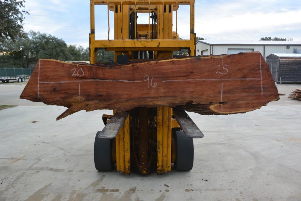 Mesquite  Live Edge Wood Slab - TM303 - 96x23x2.5 - Side 1